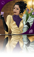 selina kyle in her dressing room
