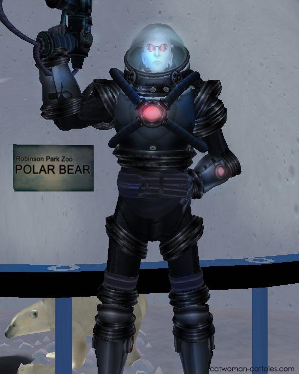 Mr. Freeze at the Polar Bear enclosure, Robinson Park Zoo