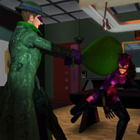 Catwoman and Riddler from Not My Kink, stunning HD Wallpaper