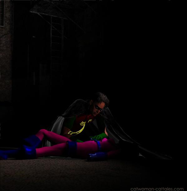 Robin finds Spoiler's body