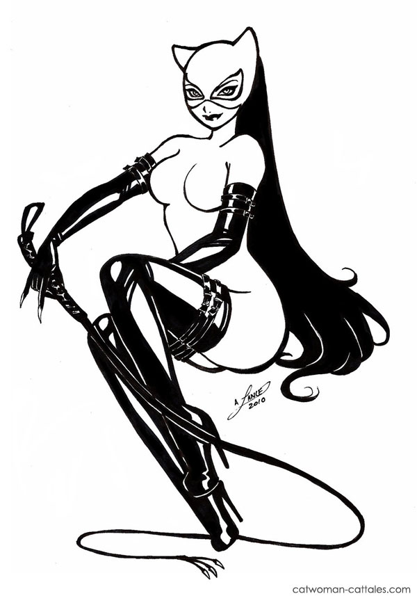 Catwoman Black and White: Kickass