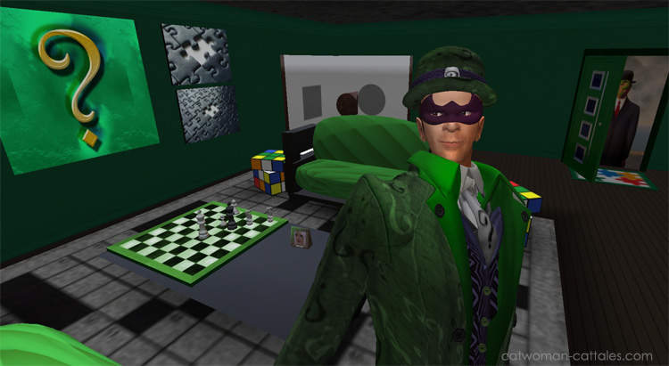 The Riddler in his lair