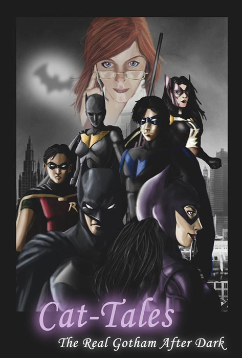 The Batman Family, Batman, Catwoman, Nightwing, Oracle, Tim Drake, Cassandra Cain, Huntress
